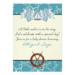 La fiesta de bienvenida al bebé náutica del velero invitación personalizada