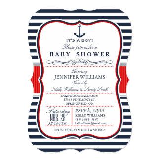 La fiesta de bienvenida al bebé náutica elegante anuncios personalizados