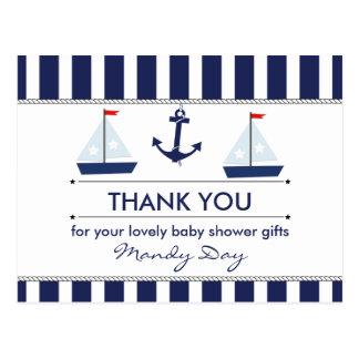 La fiesta de bienvenida al bebé náutica le tarjeta postal