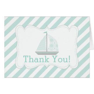 La fiesta de bienvenida al bebé náutica moderna tarjeta pequeña