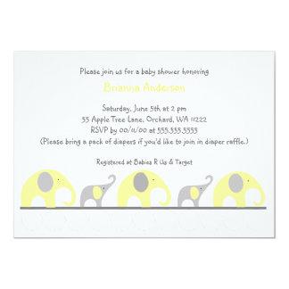 La fiesta de bienvenida al bebé neutral de los invitación 12,7 x 17,8 cm