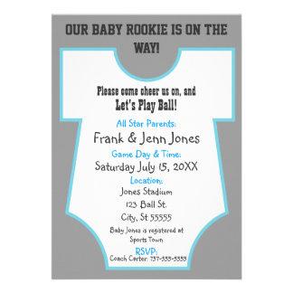 La fiesta de bienvenida al bebé novata invita anuncios