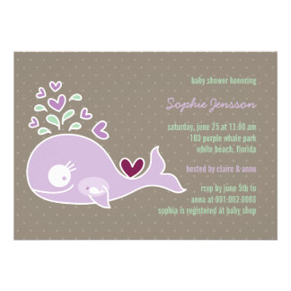 La fiesta de bienvenida al bebé púrpura embarazada