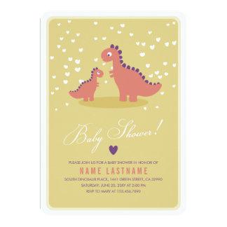 La fiesta de bienvenida al bebé rosada amarilla invitaciones personalizada