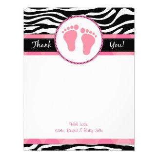 La fiesta de bienvenida al bebé rosada de la cebra anuncios