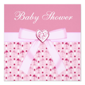 La fiesta de bienvenida al bebé rosada de los invitación 13,3 cm x 13,3cm