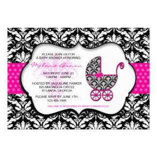 La fiesta de bienvenida al bebé rosada elegante de