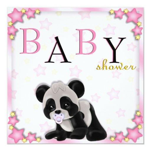 La fiesta de bienvenida al bebé rosada linda del comunicado personal