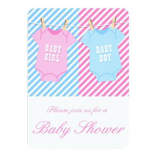 La fiesta de bienvenida al bebé rosada y azul comunicado