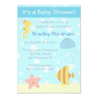 La fiesta de bienvenida al bebé subacuática del anuncios personalizados