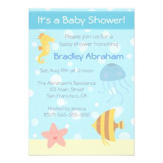 La fiesta de bienvenida al bebé subacuática del te anuncios personalizados
