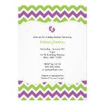 La fiesta de bienvenida al bebé verde y púrpura de