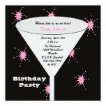 La fiesta de cumpleaños adulta invita -- Su Comunicado Personalizado