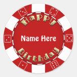 La fiesta de cumpleaños añade al pegatina de la fi