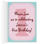 La fiesta de cumpleaños caprichosa de la magdalena tarjeta de felicitación