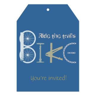 """La fiesta de cumpleaños de encargo de la bici de invitación 5"""" x 7"""""""