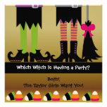 La fiesta de cumpleaños de Halloween de las brujas Anuncio Personalizado