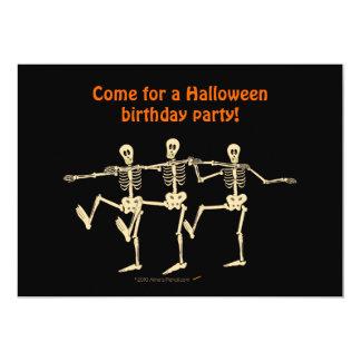 La fiesta de cumpleaños de Halloween de los Invitación 12,7 X 17,8 Cm