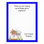 La fiesta de cumpleaños de la ciencia le agradece  invitacion personalizada