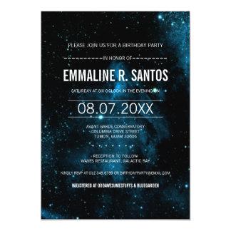 """La fiesta de cumpleaños de la galaxia invita invitación 5"""" x 7"""""""