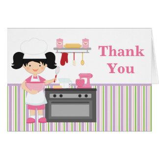 La fiesta de cumpleaños de la hornada le agradece tarjeta pequeña