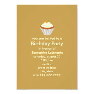 """La fiesta de cumpleaños de la magdalena de la invitación 5"""" x 7"""""""
