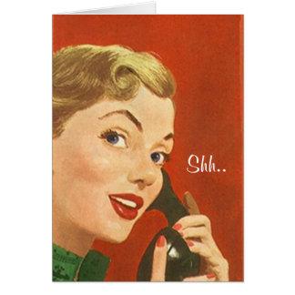 La fiesta de cumpleaños de la sorpresa del vintage tarjeta pequeña