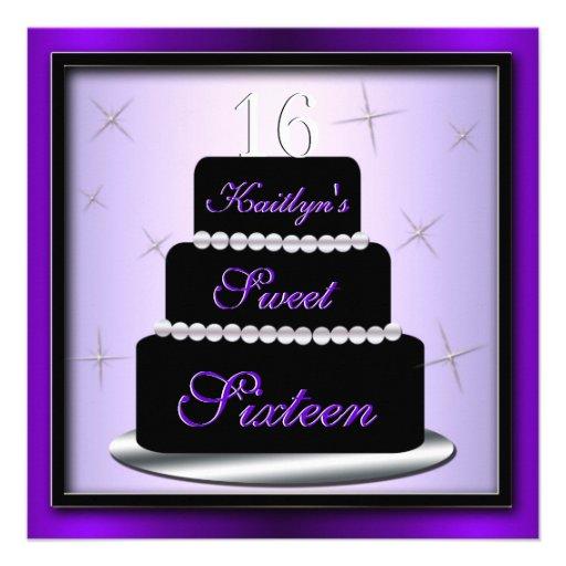 La fiesta de cumpleaños de la torta acodada invita invitaciones personales