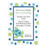 La fiesta de cumpleaños de la tortuga de mar invit invitación personalizada