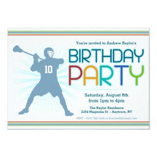 """La fiesta de cumpleaños de LaCrosse invita - a Invitación 5"""" X 7"""""""
