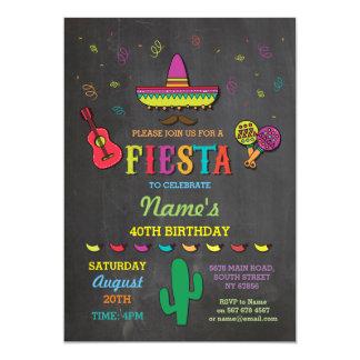 """La fiesta de cumpleaños de México del gorra Invitación 5"""" X 7"""""""