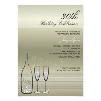 La fiesta de cumpleaños de plata del jalón de anuncio personalizado
