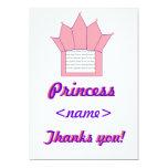 La fiesta de cumpleaños de princesa Crown First le Invitaciones Personalizada