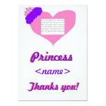 La fiesta de cumpleaños de princesa Heart First le Invitación 12,7 X 17,8 Cm