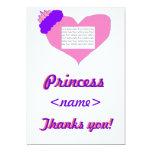 La fiesta de cumpleaños de princesa Heart le Invitación 12,7 X 17,8 Cm
