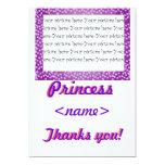 La fiesta de cumpleaños de princesa Mini Hearts le Invitación 12,7 X 17,8 Cm
