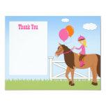 La fiesta de cumpleaños del caballo le agradece invitación personalizada