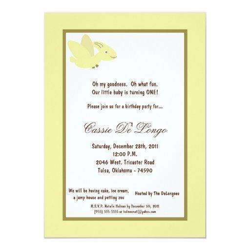 la fiesta de cumpleaños del dinosaurio 5x7 invita invitación 12,7 x 17,8 cm