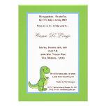 la fiesta de cumpleaños del dinosaurio 5x7 invita comunicado personalizado