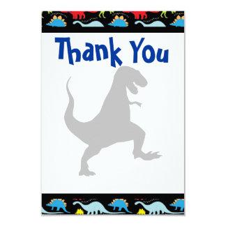 """La fiesta de cumpleaños del dinosaurio de T Rex le Invitación 3.5"""" X 5"""""""