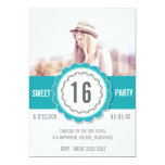 La fiesta de cumpleaños del dulce 16 de la foto invitación 12,7 x 17,8 cm
