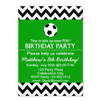 """La fiesta de cumpleaños del fútbol embroma invitación 5"""" x 7"""""""