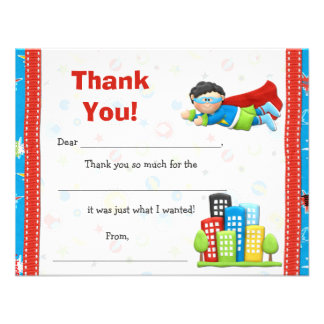 La fiesta de cumpleaños del super héroe le agradec comunicados personales