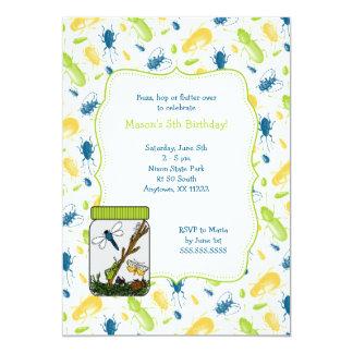 La fiesta de cumpleaños del tarro del insecto anuncio personalizado