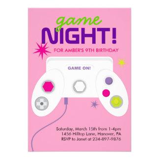 La fiesta de cumpleaños del videojuego de la arcad comunicado personal