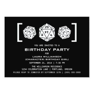 """La fiesta de cumpleaños del videojugador de los invitación 5"""" x 7"""""""