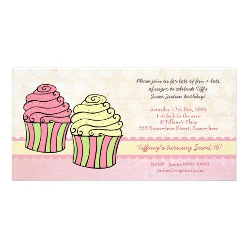 La fiesta de cumpleaños elegante del dulce 16 de l tarjeta personal