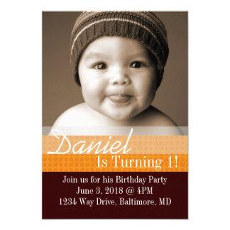 La fiesta de cumpleaños invita al B-Día I |dbror d Invitación Personalizada