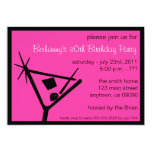 La fiesta de cumpleaños invita al vidrio de comunicados personalizados