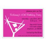La fiesta de cumpleaños invita al vidrio de comunicados